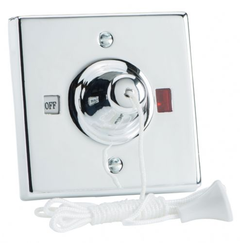Varilight YPSC45 Pull Cord Switch 45A with Neon Chrome Effect